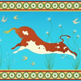 Minoan bull stock image illustration
