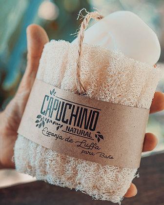 Estuche de Luffa para jabón de baño
