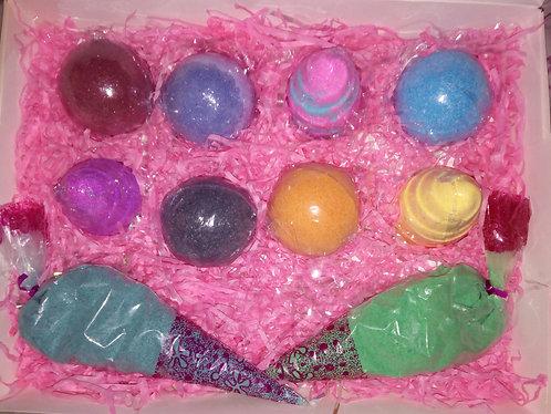 8 bath bomb gift box