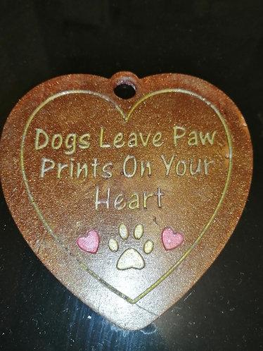Dogs leave paw prints plaque
