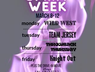 Spirit Week & Movie Night March 8-12