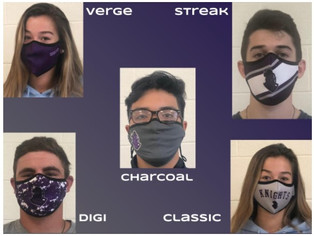 Face Coverings & Water Bottles Still Available
