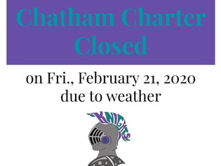 Chatham Charter Closed Friday, February 21, 2020