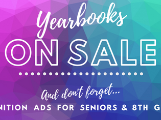 Don't Forget: Yearbooks and Recognition Ads On Sale