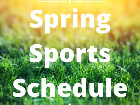 Spring Sports Schedule