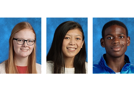 Three Sophomores Accepted Into NC School of Science and Mathematics Online Program
