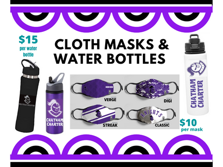 Cloth Mask & Water Bottle Sale to Support DECA Chapter