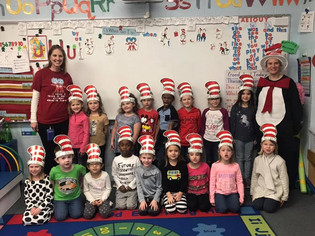 Elementary Students Celebrate Seuss