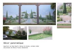 Panoramique - Trompe l'oeil à Noisy-le-Grand