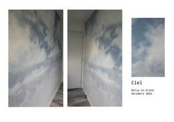 Ciel Mur - Trompe l'oeil à Noisy-le-Grand