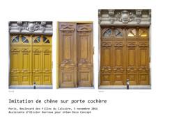 Porte - Faux bois à Paris