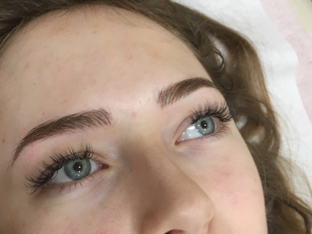 Brow Tint, Wax, Eyelash Extensions