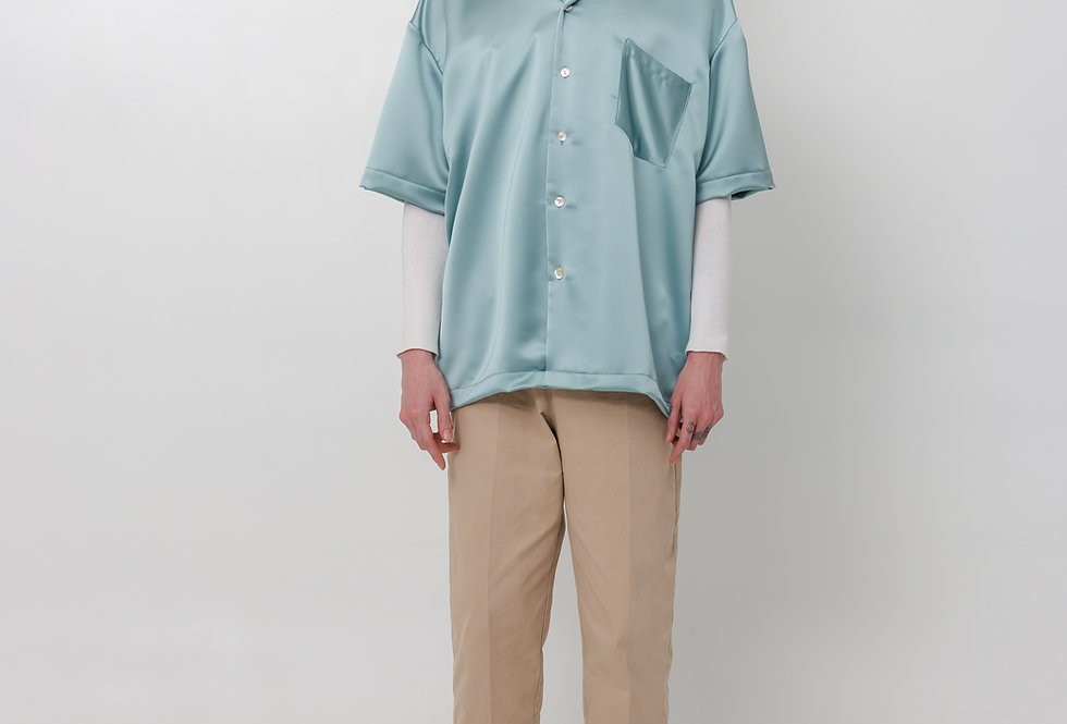 Satin shirt - Jade