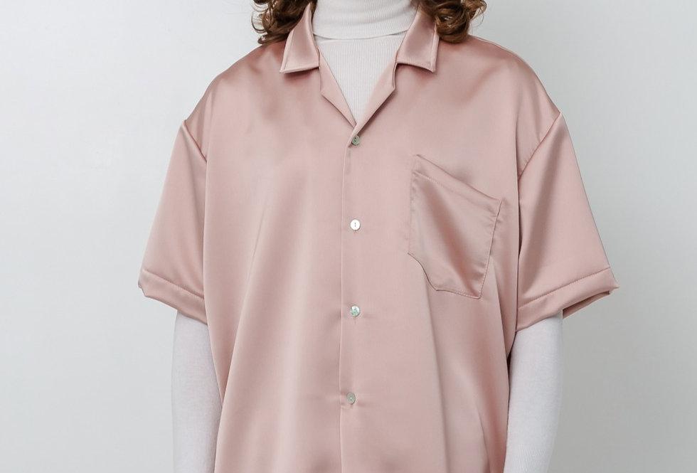 Satin shirt - Apricot
