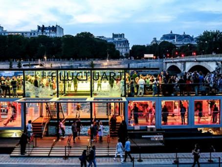 Fluctuart: un centro de arte urbano flotante en París