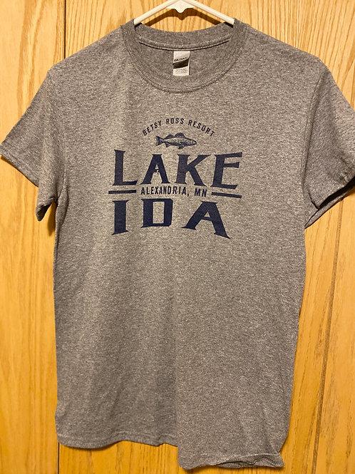 Short Sleeve Cotton T-Shirt - Grey