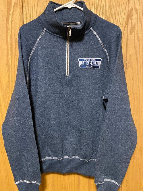 1/4 Zip Sweatshirt - Heather Navy