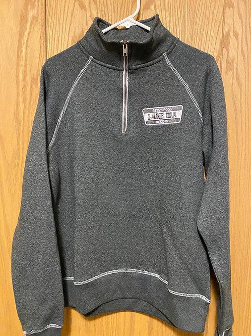1/4 Zip Sweatshirt - Heather Charcoal