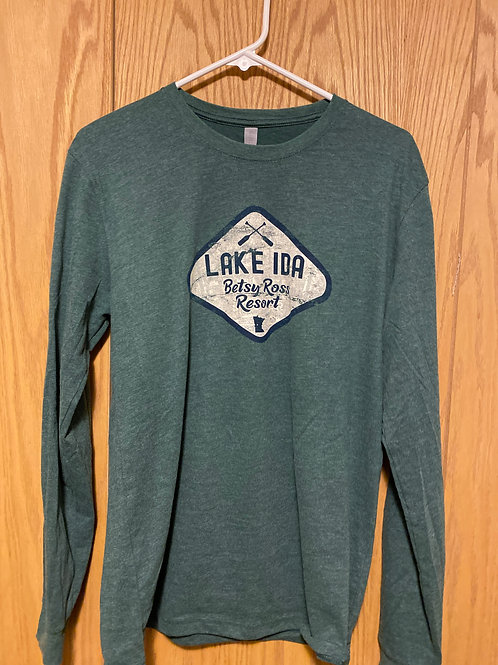 Sueded Long Sleeve Crew