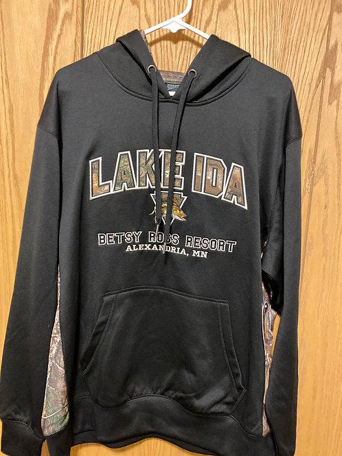 Black/Camo walleye sweatshirt