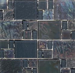 Piazza Grey Random Glass Mosaic