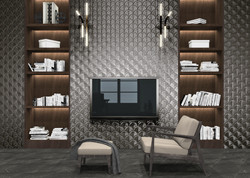 Scale Shell Anthracite Room Scene