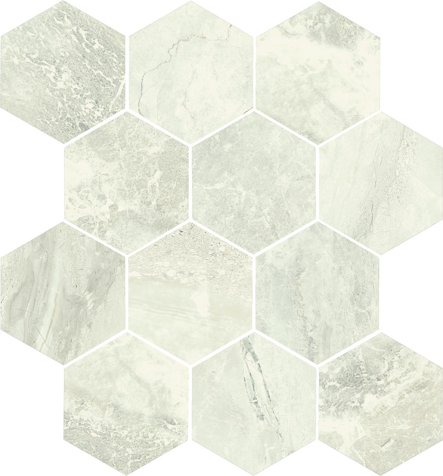 Anthology Ivory Hex Mosaic