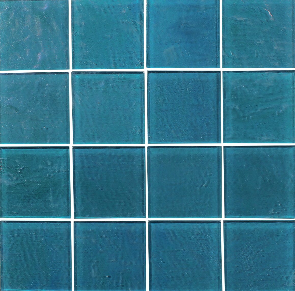 Piazza Turquoise 3x3 Glass Mosaic