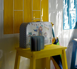 Joyful Mango, Milk and Azure Wall