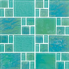 Piazza Green Random Mosaic Grouted.png