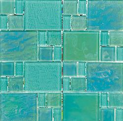 Piazza Green Random Glass Mosaic