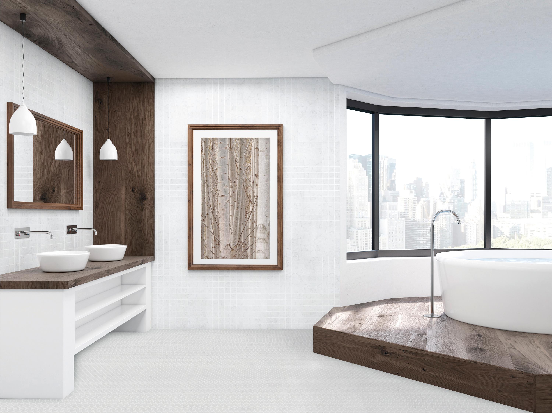 Venato White 2x2 and Hex Room Scene