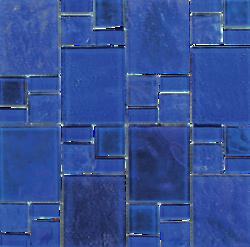 Piazza Cobalt Random Glass Mosaic