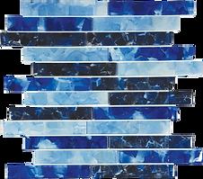 Flower Glass Bluebell iris oxford 1x6 bl