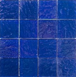 Piazza Cobalt 3x3 Glass Mosaic