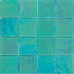 Piazza Green 3x3 Glass Mosaic