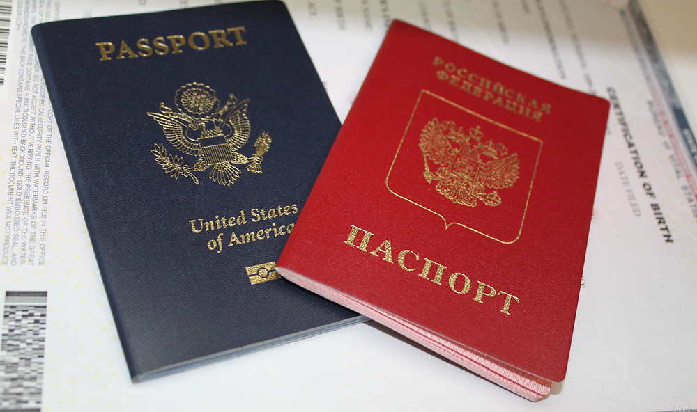гражданство США, загранпаспорт РФ