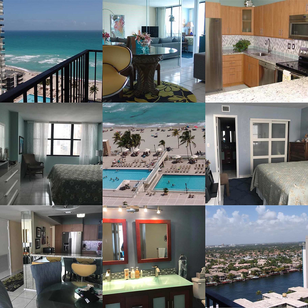 Quadomain 2/2 bed 2401 Ocean Dr. Hollywood Beach
