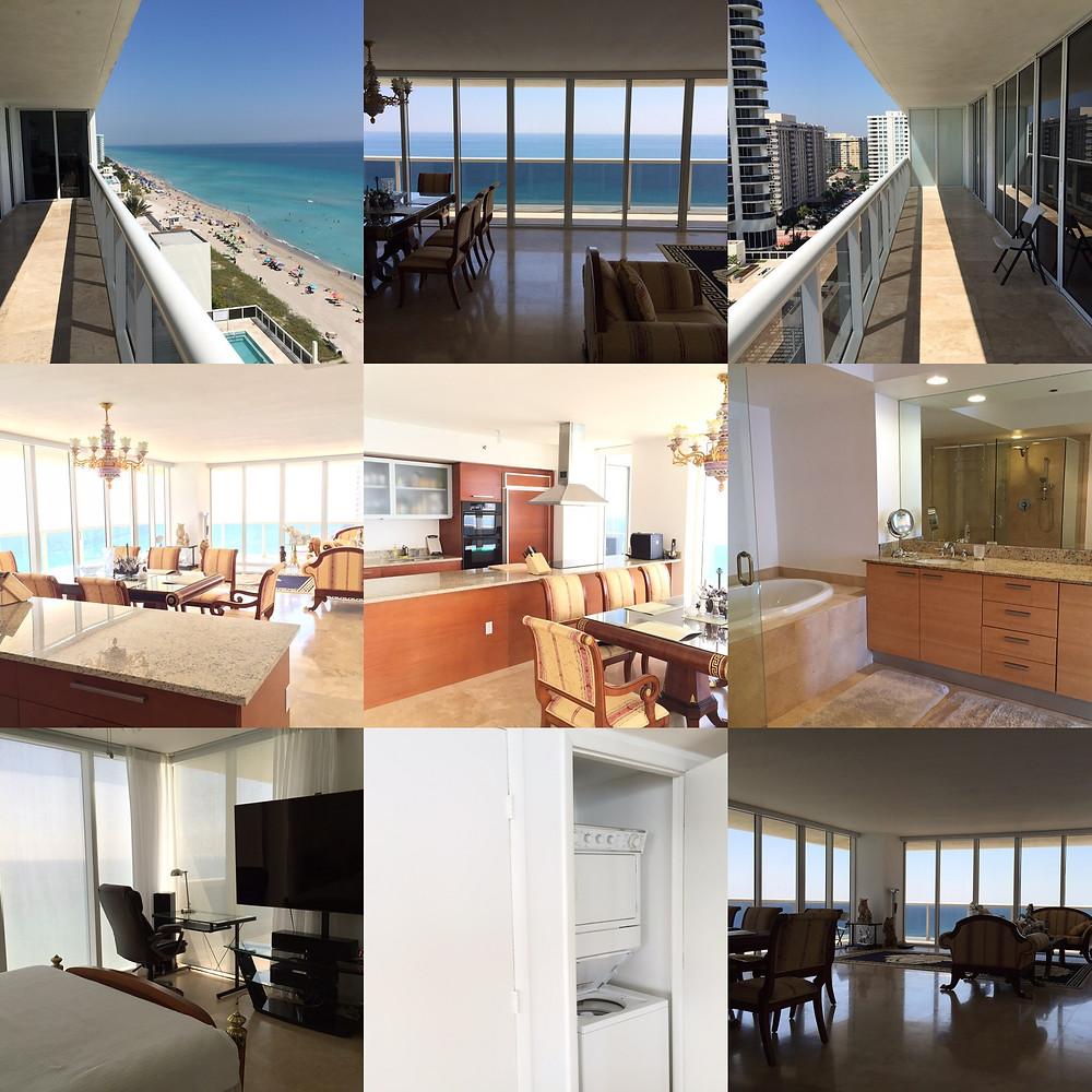 Аренда квартиры в  Майами здание Beach Club Two 2/2 bed room