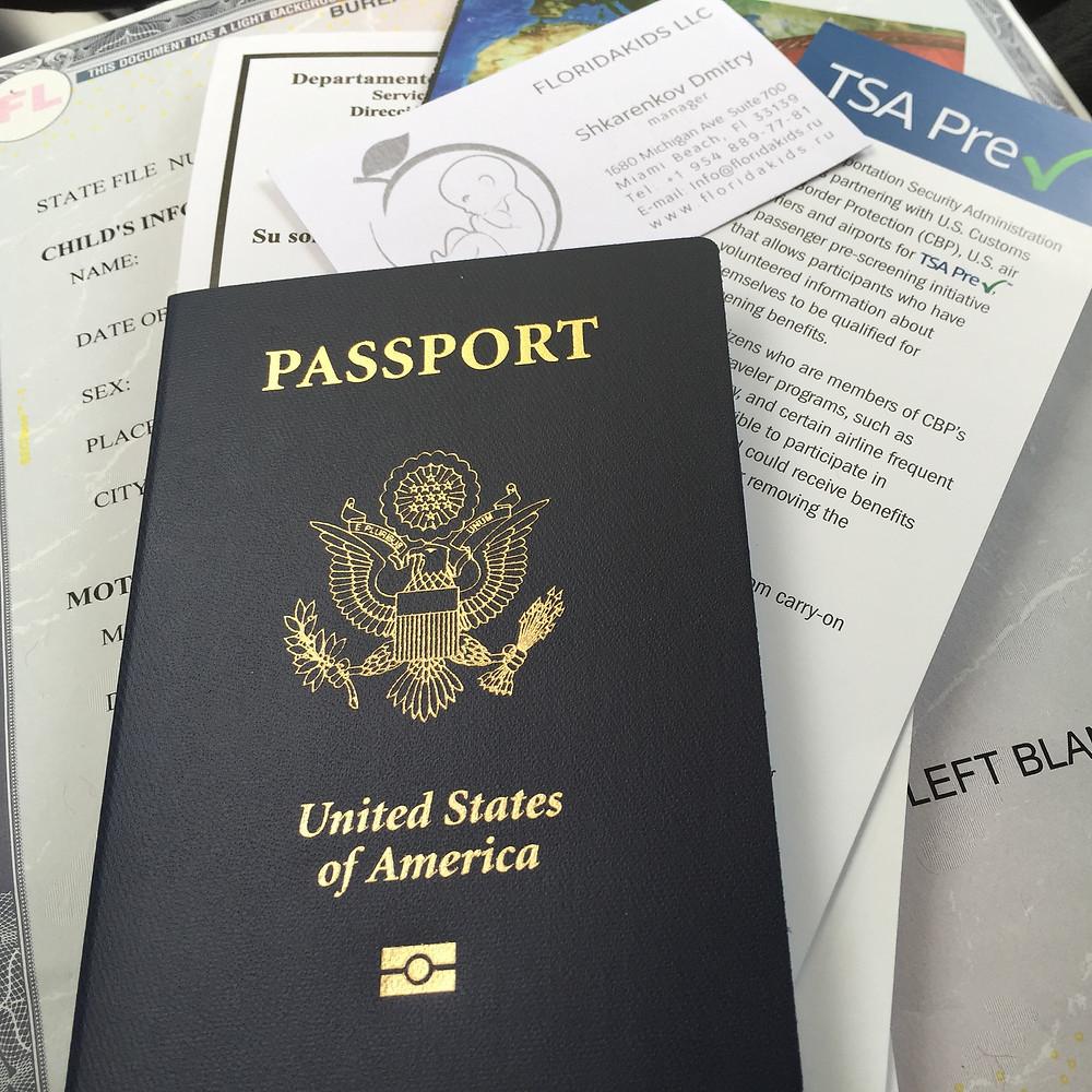 Паспорт США новорожденным в Америке
