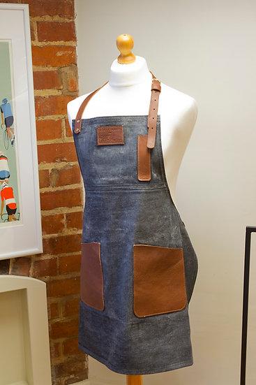 Denim & Leather Workshop Apron