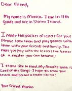 Monica Stapor's letter