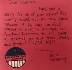 Nicole's letter