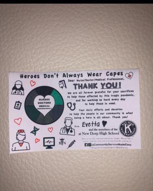 Evetta's Thank You Card