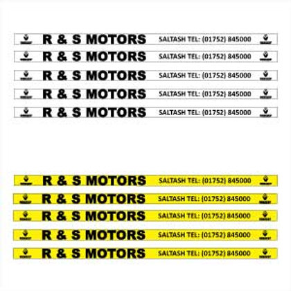 Number Plate Sticker Set