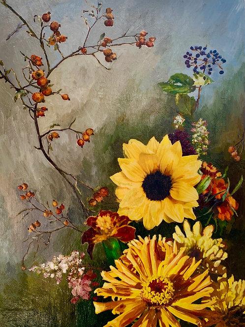 """Floral 9""(Stela Mandrak-Pagani)"