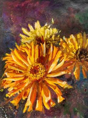 """Floral 7""(Stela Mandrak-Pagani)"