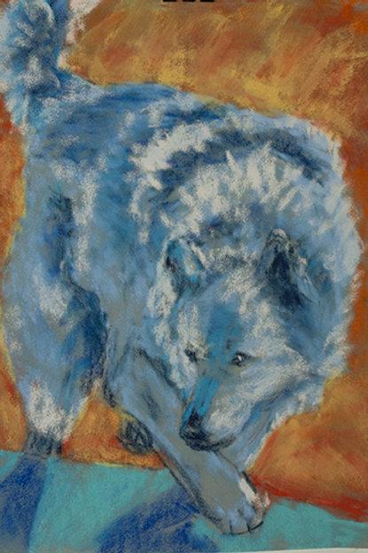 """""""Wolf turn 3""""(Lynne Bedbrook)"""