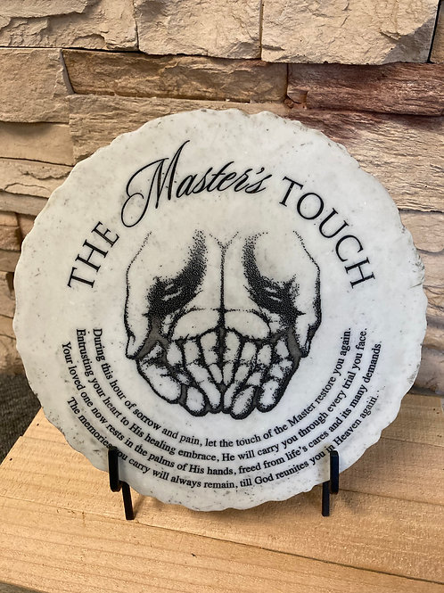Masters touch garden stone and stand
