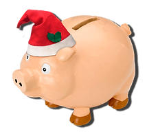 christmas; piggy bank; piggybank